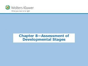 Chapter 8Assessment of Developmental Stages Copyright 2015 Wolters