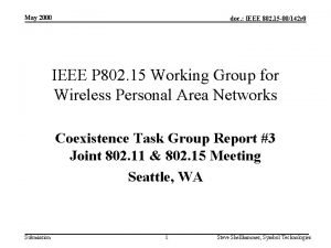 May 2000 doc IEEE 802 15 00142 r