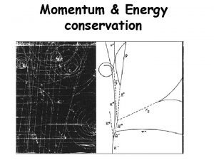 Momentum Energy conservation Momentum Newtons 2 nd law