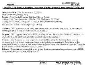 doc IEEE 802 15 15 10 July 2010