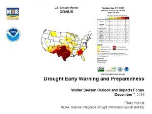 Drought Early Warning and Preparedness Winter Season Outlook