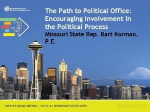 The Path to Political Office Encouraging Involvement in