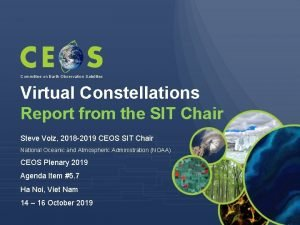 Committee on Earth Observation Satellites Virtual Constellations Report