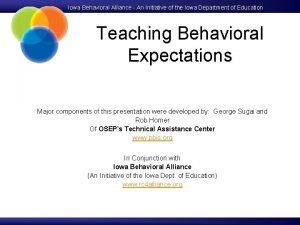 Iowa Behavioral Alliance An Initiative of the Iowa