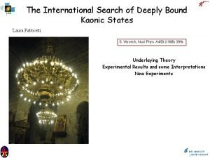 The International Search of Deeply Bound Kaonic States