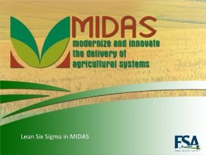 Lean Six Sigma in MIDAS 1 Lean Six