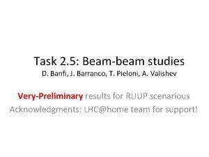 Task 2 5 Beambeam studies D Banfi J