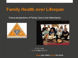 Family Health over Lifespan Future perspectives of Family