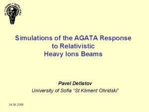 Simulations of the AGATA Response to Relativistic Heavy