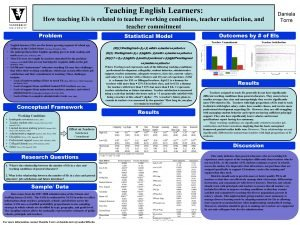 Teaching English Learners How teaching Els is related