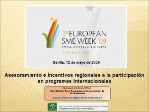 Sevilla 12 de mayo de 2009 Asesoramiento e