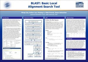 BLAST Basic Local Alignment Search Tool Meng Cao
