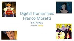 Digital Humanities Franco Moretti V Franco Moretti Graphs