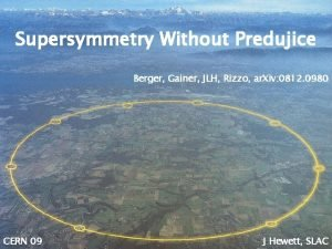 Supersymmetry Without Predujice Berger Gainer JLH Rizzo ar