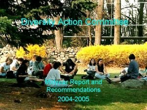 Diversity Action Committee Midyear Report and Recommendations 2004