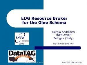 EDG Resource Broker for the Glue Schema Sergio