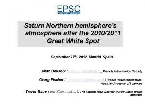 Saturn Northern hemispheres atmosphere after the 20102011 Great