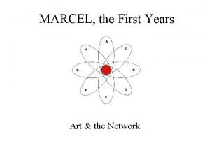 MARCEL the First Years Art the Network MARCEL