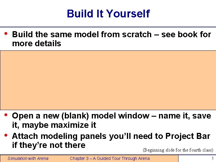 Build It Yourself Build the same model from