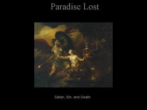 Paradise Lost Satan Sin and Death Paradise Lost