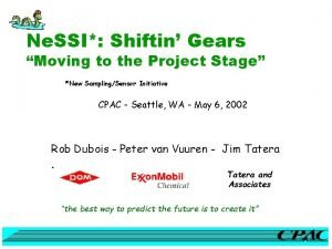 Ne SSI Shiftin Gears Moving to the Project
