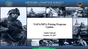 DEFENSE LOGISTICS AGENCY THE NATIONS COMBAT LOGISTICS SUPPORT