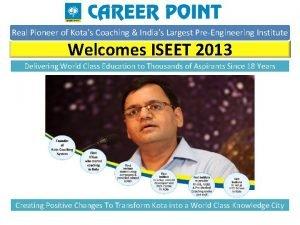 Real Pioneer of Kotas Coaching Indias Largest PreEngineering