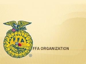 THE NATIONAL FFA ORGANIZATION WHAT IS THE FFA