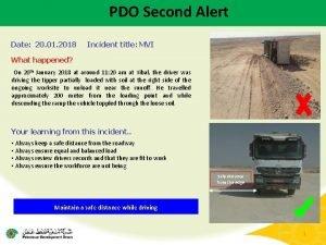 PDO Second Alert Date 20 01 2018 Incident