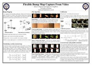 Flexible Bump Map Capture From Video James A