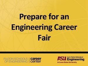 Prepare for an Engineering Career Fair Fulton Schools