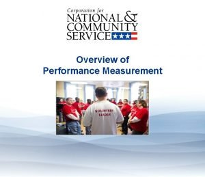 Overview of Performance Measurement Overview of Performance Measurement
