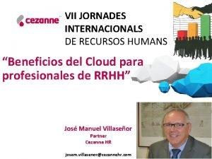 VII JORNADES INTERNACIONALS DE RECURSOS HUMANS Beneficios del