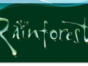 rainforest A rainforest is often referred to as