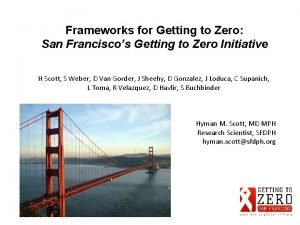 Frameworks for Getting to Zero San Franciscos Getting