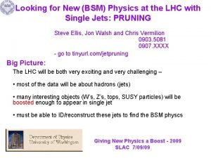 Looking for New BSM Physics at the LHC