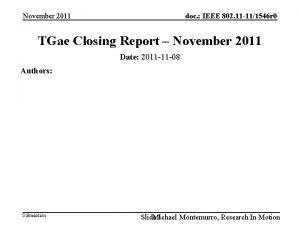 doc IEEE 802 11 111546 r 0 November