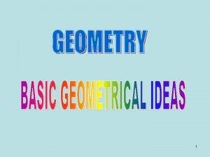 1 2 GEOMETRY GEO METRON GEO THE EARTH