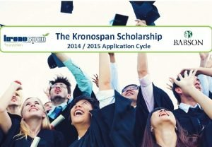 ABOUT THE KRONOSPAN FOUNDATION Mission Our mission is
