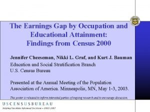 The Earnings Gap by Occupation and Educational Attainment
