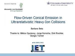 FlowDriven Conical Emission in Ultrarelativistic HeavyIon Collisions Barbara