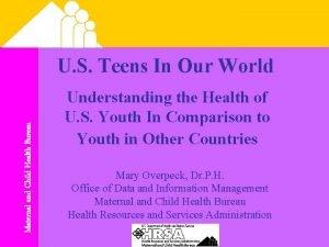 Maternal and Child Health Bureau U S Teens