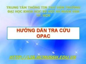 TRUNG T M THNG TIN TH ViN TRNG