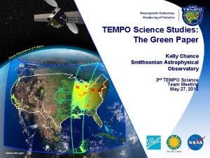 TEMPO Science Studies The Green Paper Kelly Chance