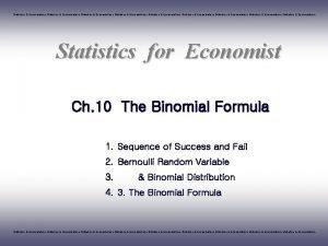 Statistics Econometrics Statistics Econometrics Statistics Econometrics Statistics for