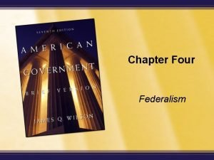 Chapter Four Federalism Enduring Questions What is sovereignty