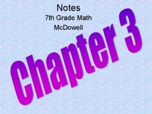 Notes 7 th Grade Math Mc Dowell Order