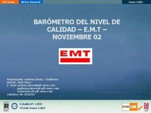 Gf K Group Ad Hoc Research BARMETRO DEL