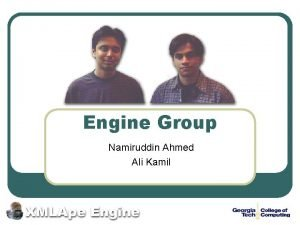Engine Group Namiruddin Ahmed Ali Kamil XMLApe l