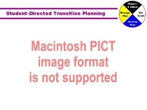 StudentDirected Transition Planning StudentDirected Transition Planning Vision for